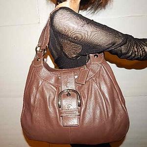 Coach Soho Brown Leather Shoulder Bag Hobo Handbag